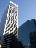 blå skyskrapa Arkivbild