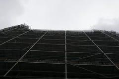 blå skyskrapa för konstruktionskransky Royaltyfri Foto