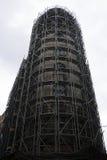 blå skyskrapa för konstruktionskransky Arkivbild