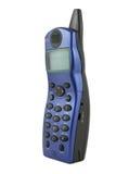 blå sladdlös telefon Royaltyfria Bilder