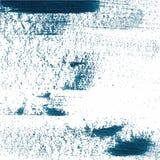 Blå slaglängd för borste för vektor för färgmålarfärgsudd Fernissafärgstänklinje Olje- målarfärg för abstrakt formakryl Arkivfoton