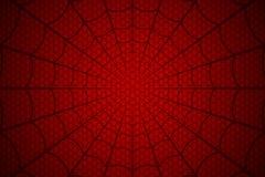 blå slapp spindeltonrengöringsduk Spindelnät på röd bakgrund också vektor för coreldrawillustration stock illustrationer