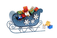 blå sleigh Royaltyfria Foton