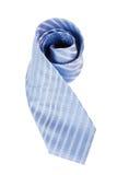blå slips för bakgrund över silk white Fotografering för Bildbyråer