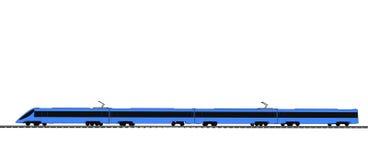 Blå snälltåg för vektor på vit vektor illustrationer
