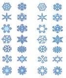 Blå snöflinga royaltyfria bilder