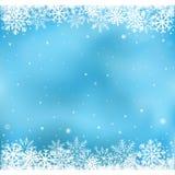 Blå snöingreppsbakgrund Royaltyfri Fotografi