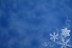 blå snow Arkivbilder