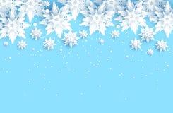 Blå snowbakgrund stock illustrationer
