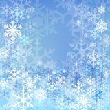 Blå snowbakgrund Royaltyfri Fotografi