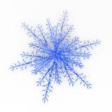 blå snowflake royaltyfri illustrationer