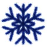Blå snowflake 3d. Royaltyfria Foton