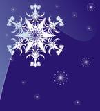 blå snowflake Arkivbild