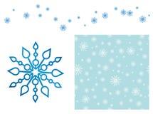 Blå snowflakemodell Arkivbild