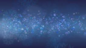 Blå snowflakesbakgrund arkivfilmer