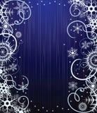 blå snowflakesvinter för bakgrund Arkivfoto