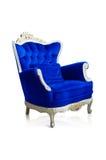 Blå sofa Arkivfoton