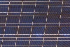 Blå sol- panel Fotografering för Bildbyråer