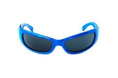 Blå solglasögon för mode Arkivbilder