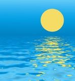 blå solnedgång vektor illustrationer