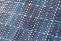 Blå solpanelcell Arkivfoto