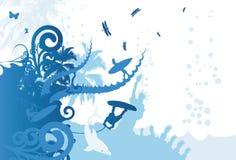 blå sommar Arkivfoto