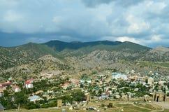 blå sommar ukraine för sky för crimea djup liggandeberg arkivbild