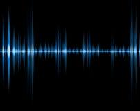 blå sound wave Arkivfoto