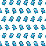 Blå spöke - klistermärkemodell 29 royaltyfri illustrationer