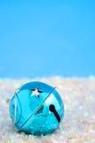 blå sparkle för klocka Arkivfoto