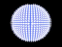 blå sphere Royaltyfri Bild