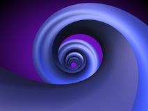 blå spiral stock illustrationer