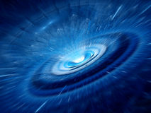Blå spiral maskhål Arkivfoto