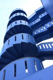 blå spiral trappa Royaltyfri Bild
