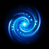 Blå spiral virvel royaltyfri illustrationer