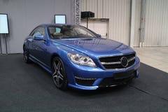 Blå sportbil, Mercedes CL AMG Arkivbilder