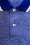 Blå sportskjorta Fotografering för Bildbyråer