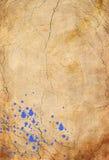 Blå sprutmålningsfärg Arkivbilder
