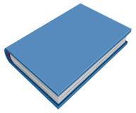 Blå stängd hardcoverbok Tredimensionell bok Royaltyfria Bilder