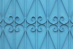 Blå stålväggmodell royaltyfri foto