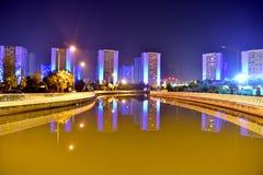 blå stad Royaltyfri Bild