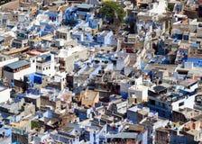 Blå stad av Jodhpur i Indien Arkivfoto
