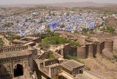 blå stad historiska jodhpur royaltyfria bilder