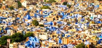 Blå stad, Jodhpur, Rajasthan, Indien Fotografering för Bildbyråer