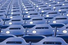 Blå stadionplacering Royaltyfri Fotografi