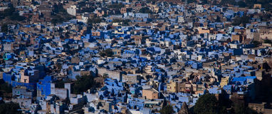 blå stadsjodhphur Arkivfoto