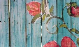 blå staketpostering Royaltyfri Foto
