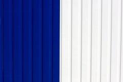 blå staketwhite Fotografering för Bildbyråer