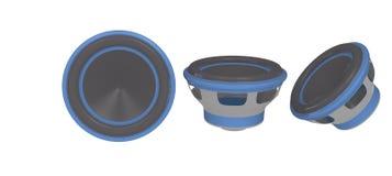 Blå stereo- högtalare Royaltyfri Foto