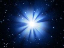 blå stjärna Arkivfoton